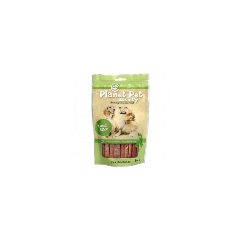 Planet Pet Snack Tiras Cordero 80gr