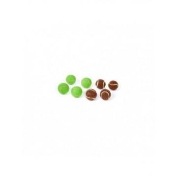 N Set 4 pelotas tenis marrón choco o verde menta