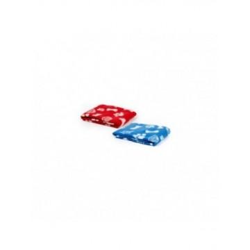 Manta Roja/Azul 73x70cm