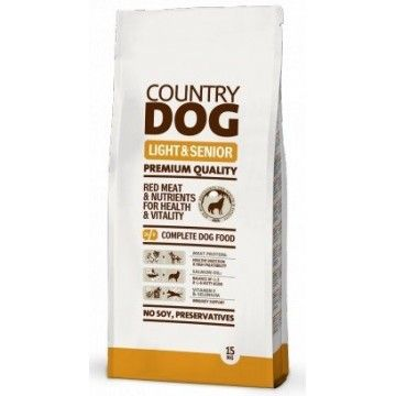 Country Dog Food Light & Senior 15Kg