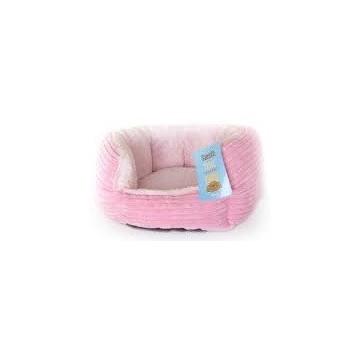 Cama Peluche Redonda Rosa 40x38x20