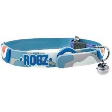Rogz Elastocat Cat Collar,Army blue 11 mm Rogz