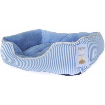 Cama rizo Azul-Blanca M 61x45x20cm