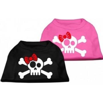 Camiseta Calavera pirata rosa Talla M
