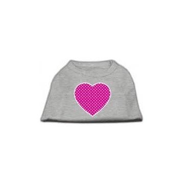 Camiseta gris Corazón Rosa Talla S
