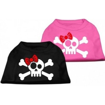 Camiseta Calavera pirata rosa Talla L