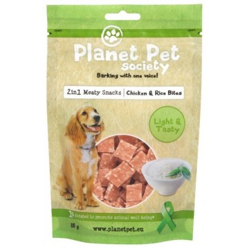 Planet Pet Snack Pollo y Arroz 80gr