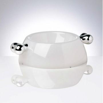 Comedero Transparent Plata S 250ml Bellomania