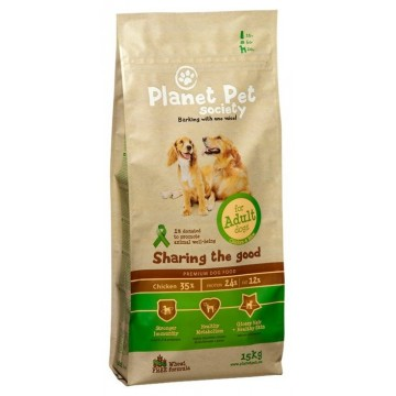 Planet Pet Adulto Pollo y Arroz 15 + 2 kg