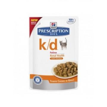 Hills Diet Feline k/d pollo (bolsita) (12x85 gr)