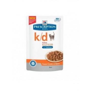 Hills Diet Feline k/d salmón (bolsita) (12x85 gr)