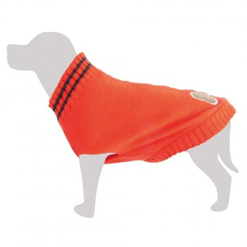 Jersey lana rojo con hueso