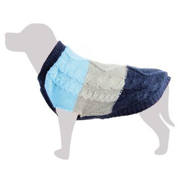 Jersey lana gris azul