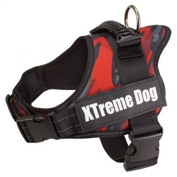 Arnés Xtreme Dog Camuflaje Rojo