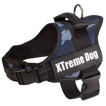Arnés Xtreme Dog Camuflaje Azul