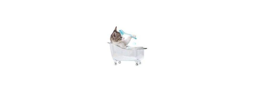 Champú para gatos. Champú y acondicionador para gatos.