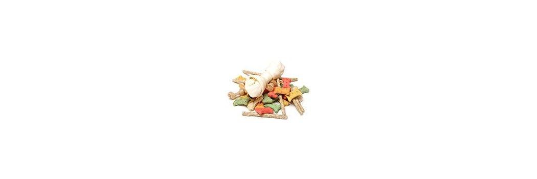 snacks y huesos para perros