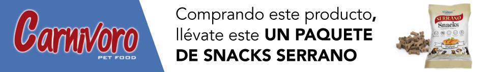 pienso carnívoro con snacks gratis