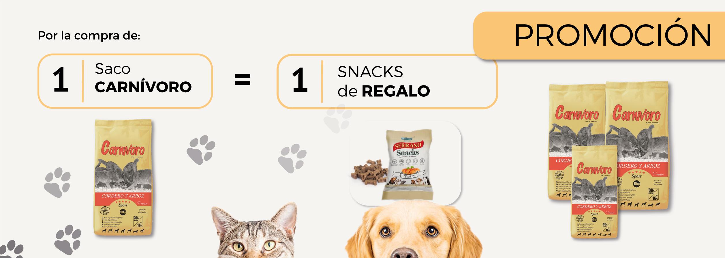 Promo carnívoro snacks